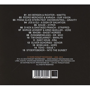 Various Artists / Solee - 10 Years Parquet Recordings (Back)
