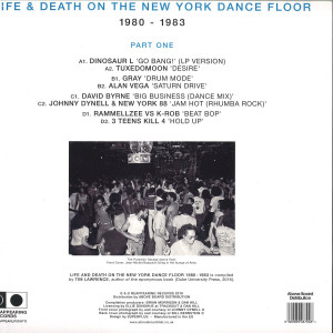 Various Artists (Dinosaur L/David Byrne) - Life & Death On A New York Dance Floor Part 1 (Back)