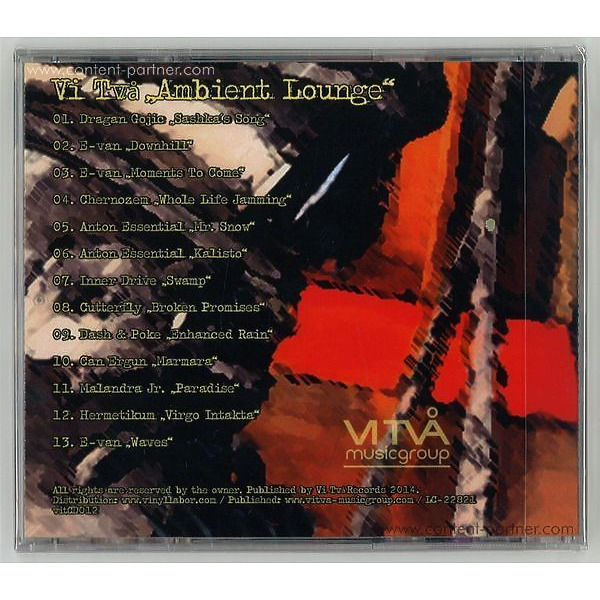 Various Artists - Ambient Lounge (Back)