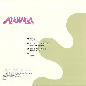 Various Artists - Animalia One (Back)