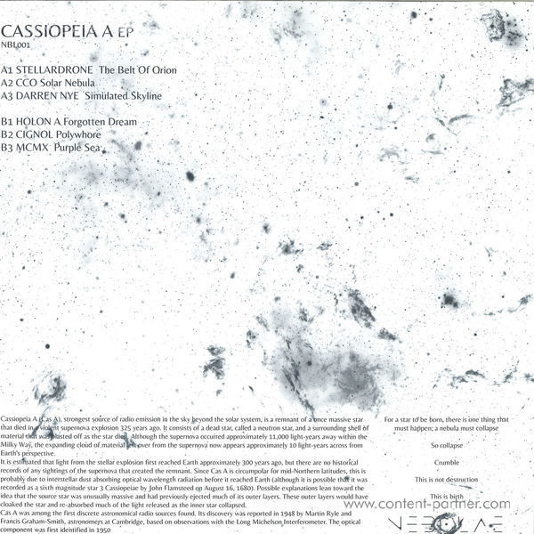 Various Artists - Cassiopeia A (Back)