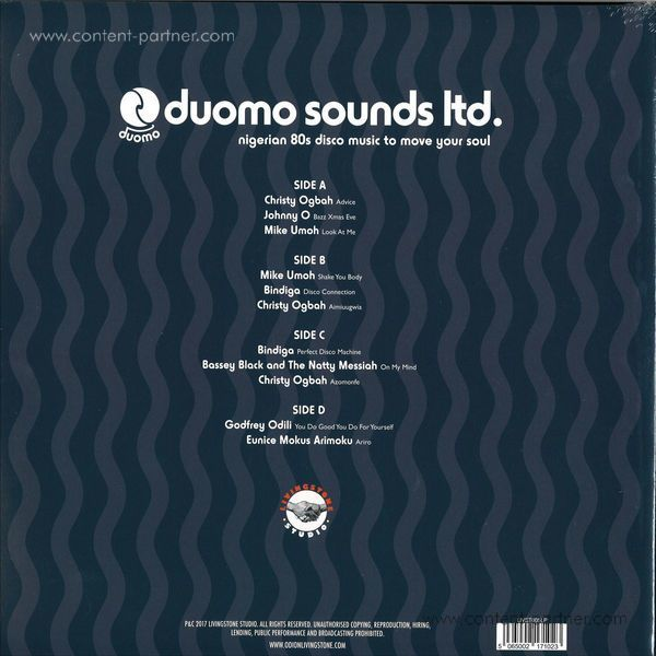 Various Artists - Duomo Sounds Ltd. - Nigerian 80s Disco Music (2LP) (Back)