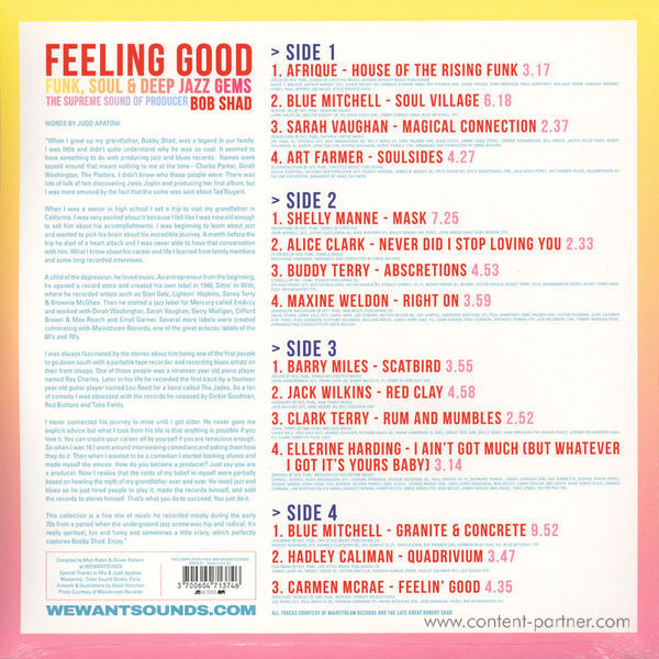 Various Artists - Feeling Good (2LP+MP3) (Back)