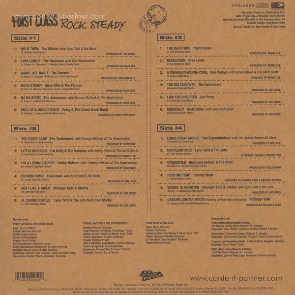 Various Artists - First Class Rocksteady (2LP-Set) (Back)
