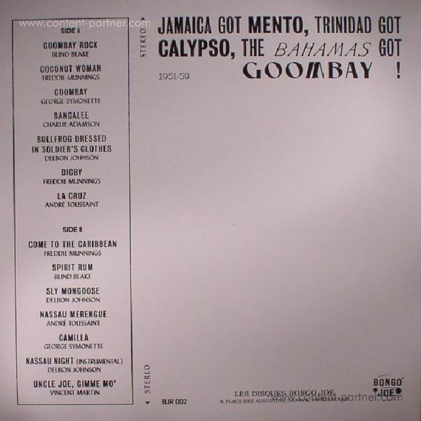 Various Artists - Goombay! Music From The Bahamas (1951-59) (LP) (Back)