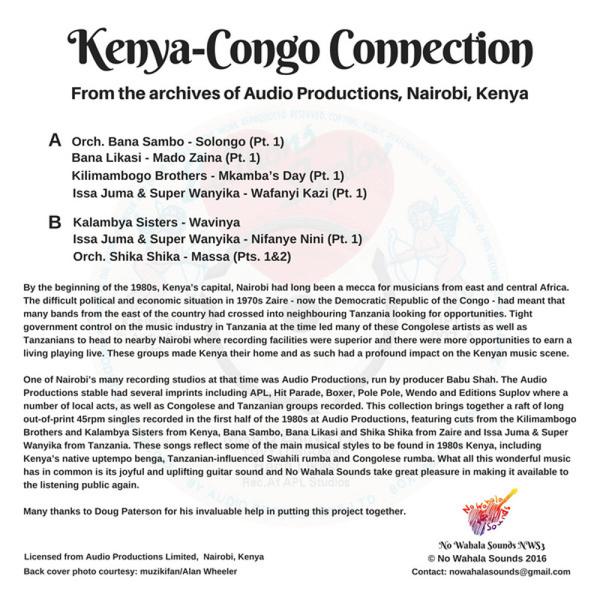 Various Artists - Kenya-Congo Connection (Back)