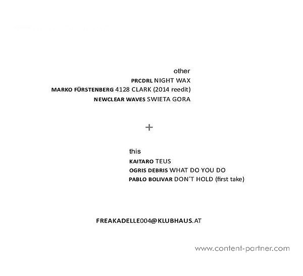 Various Artists - Klubhaus Freunde (Vinyl Only) (Back)