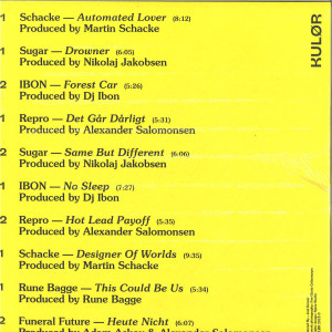 Various Artists - Kulor001 (3x12'') REPRESS (Back)