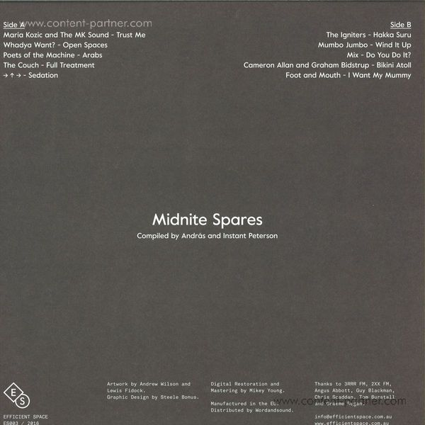 Various Artists - Midnite Spares, Compiled By Andros And Instant Pet (Back)
