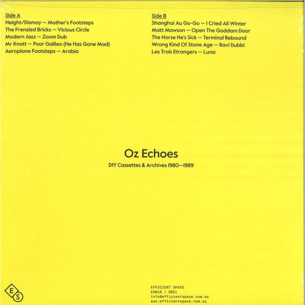 Various Artists - Oz Echoes: DIY Cassettes And Archives 1980?-?1989 (Back)