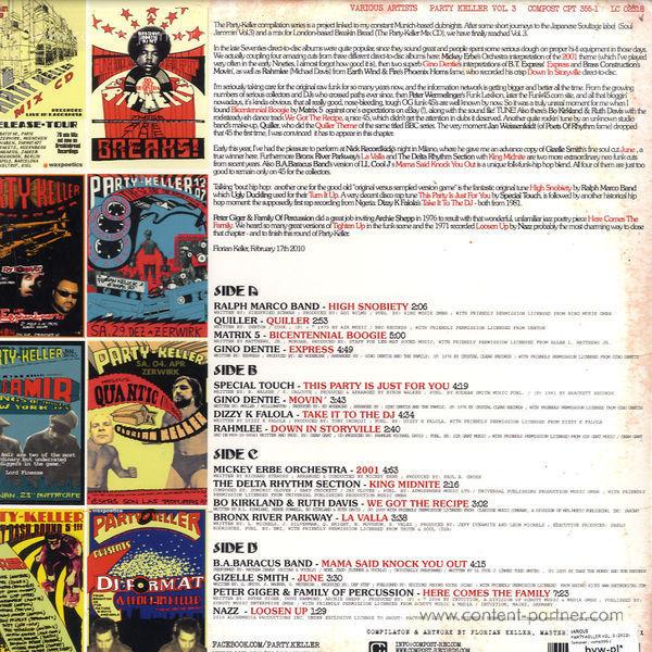 Various Artists - Party-Keller Vol. 3 (Back)
