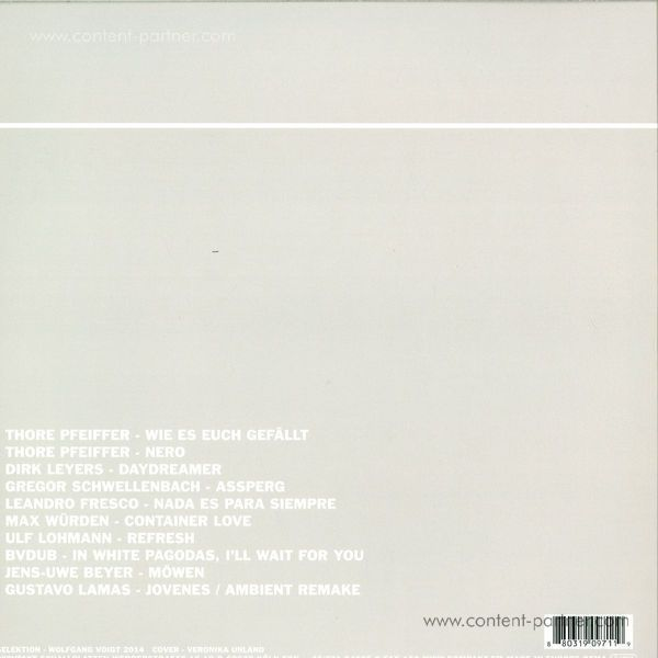 Various Artists - Pop Ambient 2015 (180g+CD) (Back)