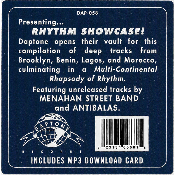 Various Artists - Rhythm Showcase Vol. 1 (LP + MP3) (Back)