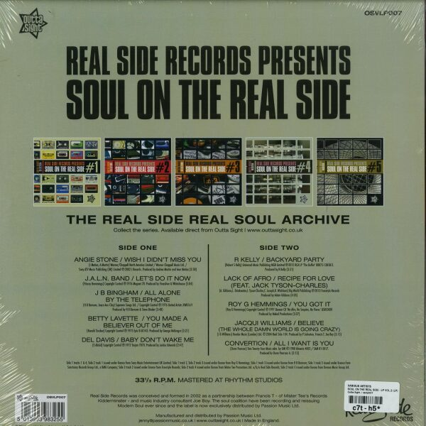 Various Artists - Soul On The Real Side - LP Vol.2 (Back)