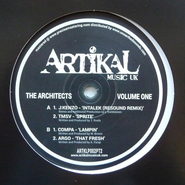 Various Artists - The Architects : Volume One : Plate Two (Back)