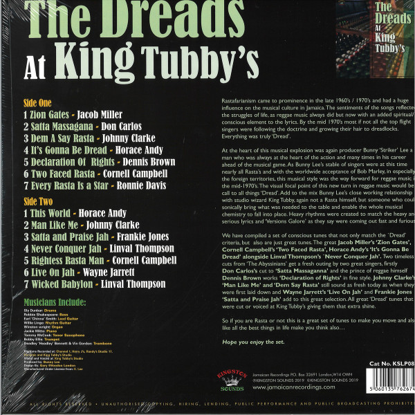 Various Artists - The Dreads At King Tubby's (Back)