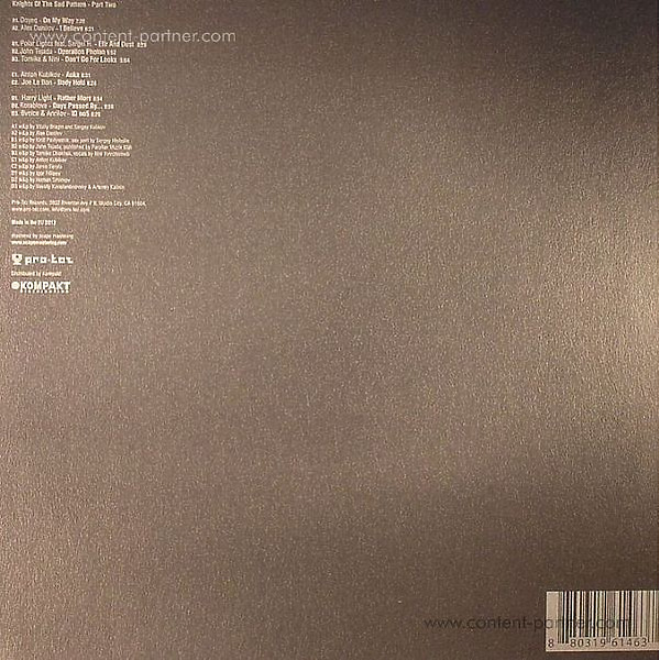Various Artists - The Knights Of The Sad Pattern - Part 2 (Back)