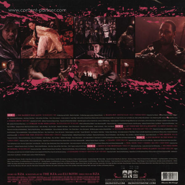 Various Artists - The Man With The Iron Fists OST (Back)