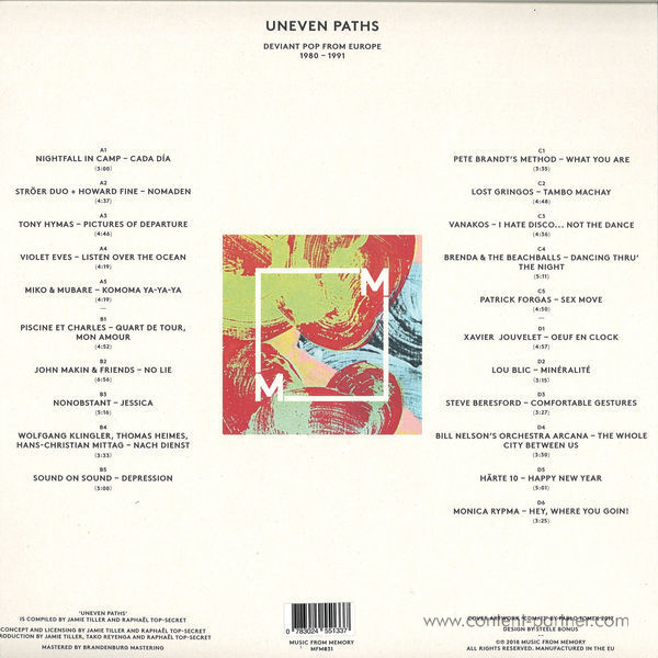 Various Artists - Uneven Paths (Back)