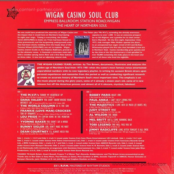 Various Artists - Wigan Casino/Station Road, Wigan 1973-81 (Back)