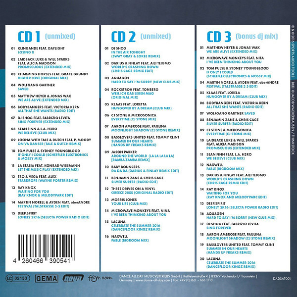Various Artists - Workout Music Motivation Vol. 01 (Back)