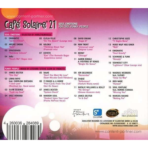 Various - Cafe Solaire 21 (Back)