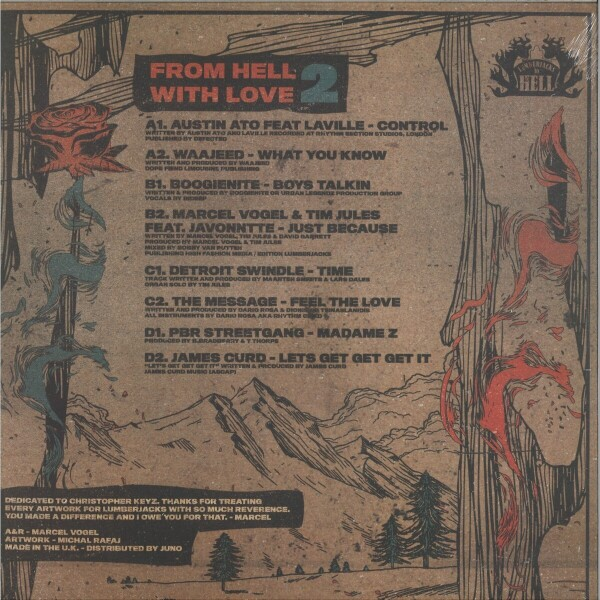 """Various - From Hell With Love 2 (140 gram vinyl double 12"""") (Back)"""