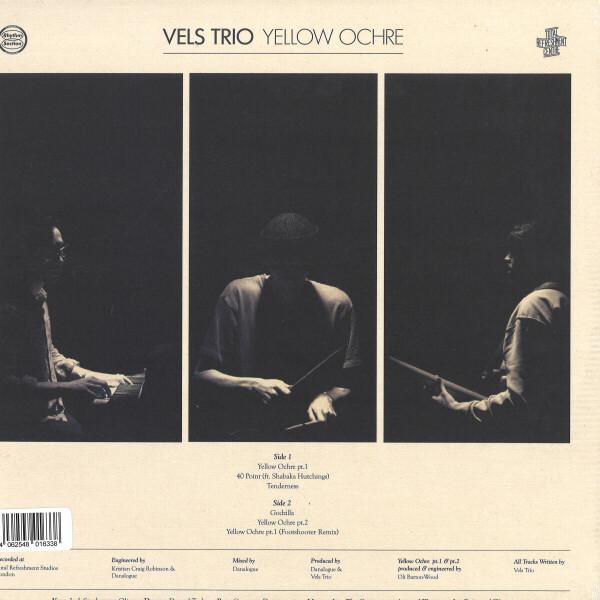 Vels Trio - Yellow Ochre (Black Vinyl) (Back)