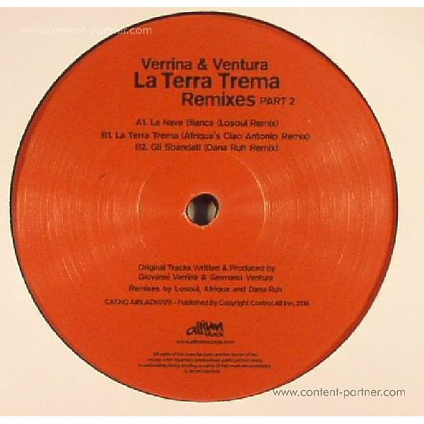 Verrina & Ventura - La Terra Trema Remixes Part 2 (Back)