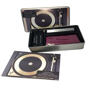Vinyl Record Cleaning Kit - Incl. Anti Static Brush, Cl. Fluid + Booklet Guide