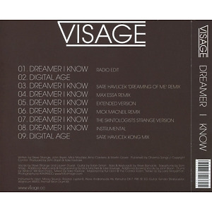 Visage - Dreamer I Know (Back)