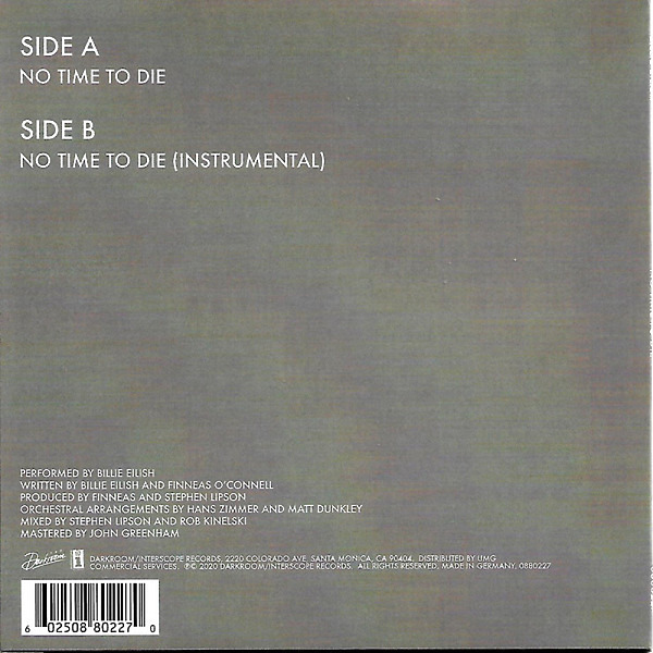 "Visage - Fade to Grey (Ltd. 10"" Vinyl) (Back)"