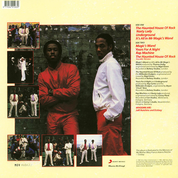 WHODINI - WHODINI (Ltd. transp. Red Vinyl Reissue LP) (Back)