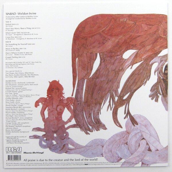 Weldon Irvine - Sinbad (180g Reissue LP) (Back)