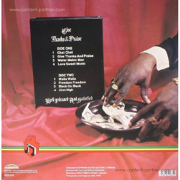 Well Pleased And Satisfied - Give Thanks And Praise (180 Gram) (Back)