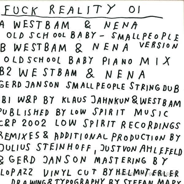 Westbam & Nena - Oldschool Baby Versions (Back)