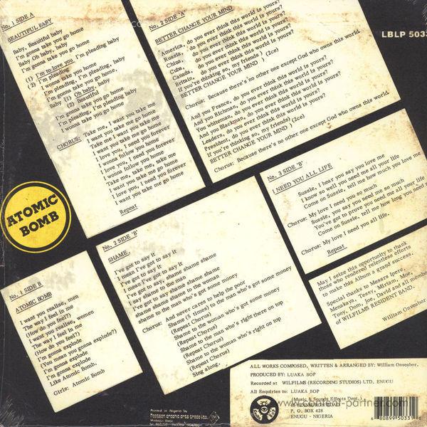 William Onyeabor - Atomic Bomb (Re-Issue) (Back)