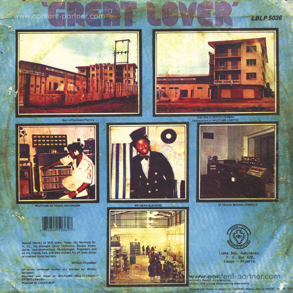 William Onyeabor - Great Lover (Re-Issue) (Back)