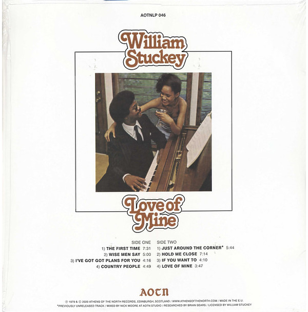 William Stuckey - Love of Mine (Reissue) (Back)