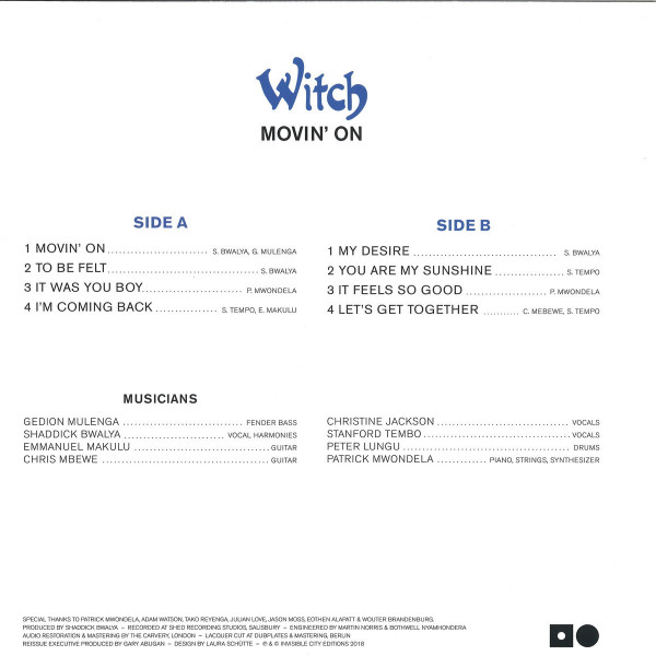 Witch - Movin' On (Repress!) (Back)