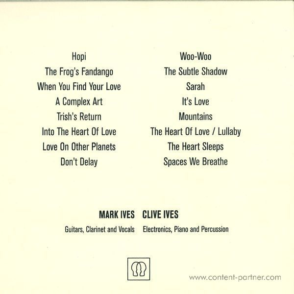 Woo - Into The Heart Of Love (Back)