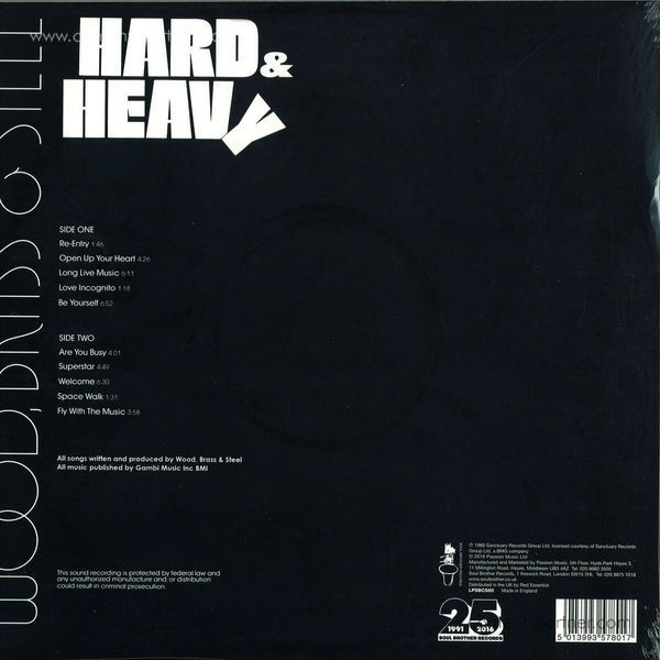 Wood, Brass & Steel - Hard & Heavy (Ltd. 180g LP/Remastered) (Back)