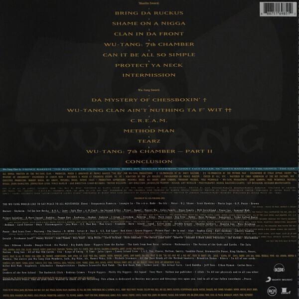 Wu-Tang Clan - Enter The Wu-Tang (LP repress 2016) (Back)
