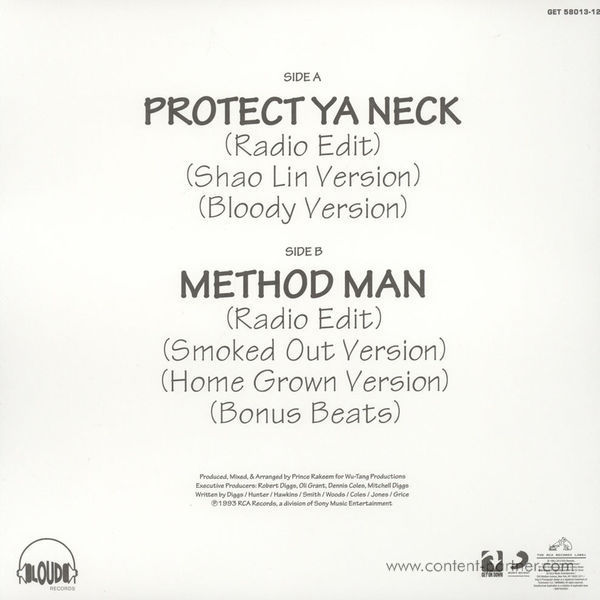 Wu-Tang Clan - Protect Ya Neck (RSD 2015 colored!) (Back)