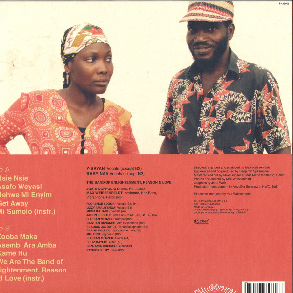 Y-Bayani and Baby Naa & The Band of Enlightenment - Nsie Nsie (LP) (Back)
