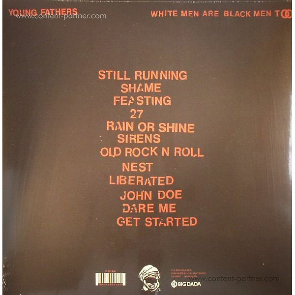 Young Fathers - White Men Are Black Men Too (Back)