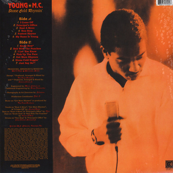 Young MC - Stone Cold Rhymin' (LP Reissue) (Back)