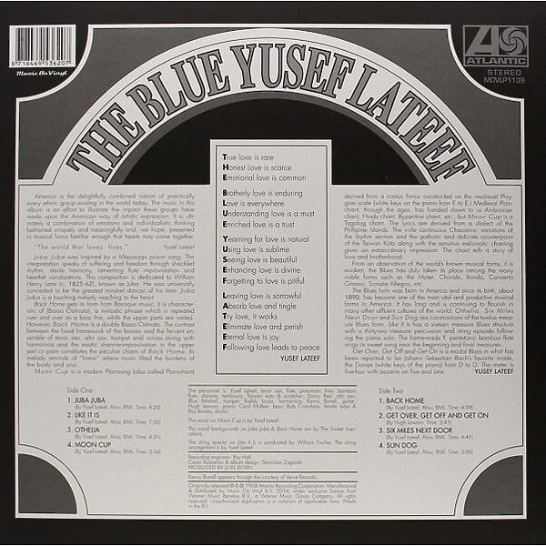 Yusef Lateef - Blue Yusef Lateef (LP) (Back)