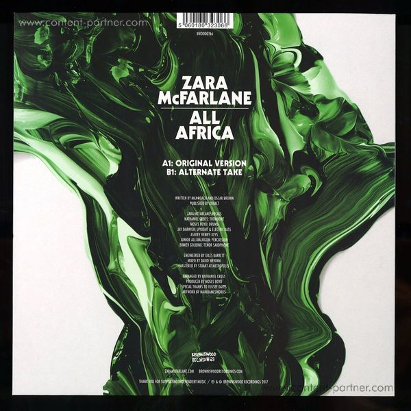 Zara Mcfarlane - All Africa (180g 10'' Vinyl/Ltd. Ed.) (Back)