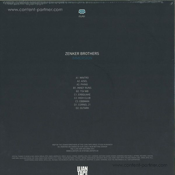 Zenker Brothers - Immersion LP (Back)